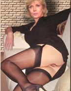 Evelyne Dheliat Stockings Upskirt Nude 001