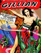 Gillian Anderson Magazine Cover Toon Naked 001