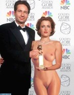 Gillian Anderson Red Carpet Event Public Nsfw 001