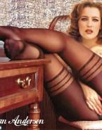 Gillian Anderson Stockings Rubs Vagina Naked 001