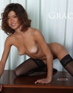 Grace Park Stockings Breasts 001