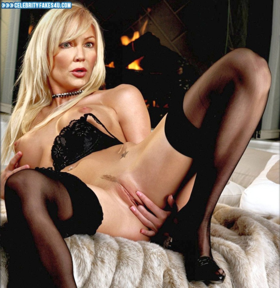 Heather Locklear Fake, Lingerie, Nude, Pussy, Pussy Fingering, Stockings, Tits, Porn