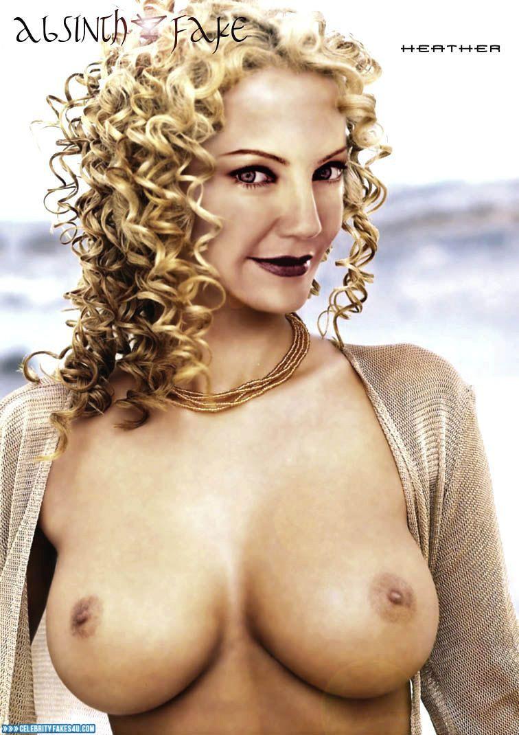 Heather Locklear Fake, Blonde, Lipstick, Tits, Very Nice Tits, Porn