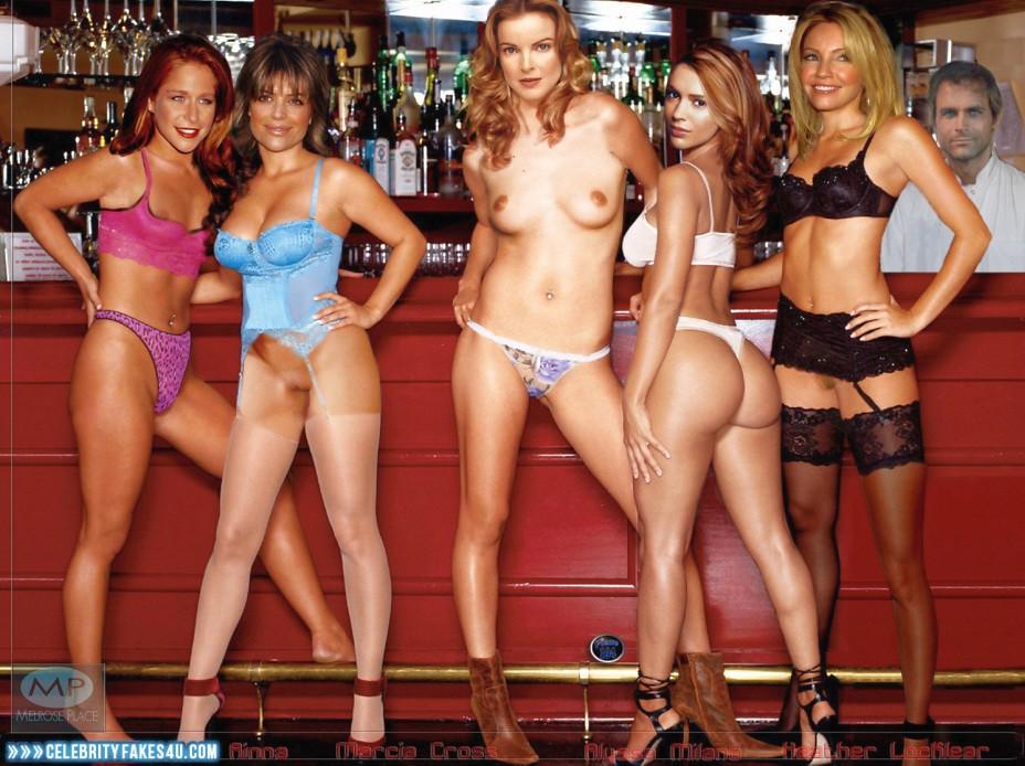 Heather Locklear Fake, Ass, Lesbian, Lingerie, Multi, Nude, Stockings, Tits, Porn