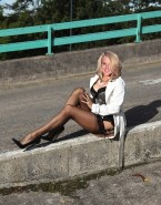Helen Flanagan Lingerie Stockings Naked 001