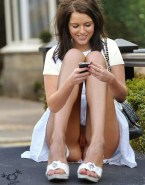 Helen Flanagan Public Up Skirt Nude 001