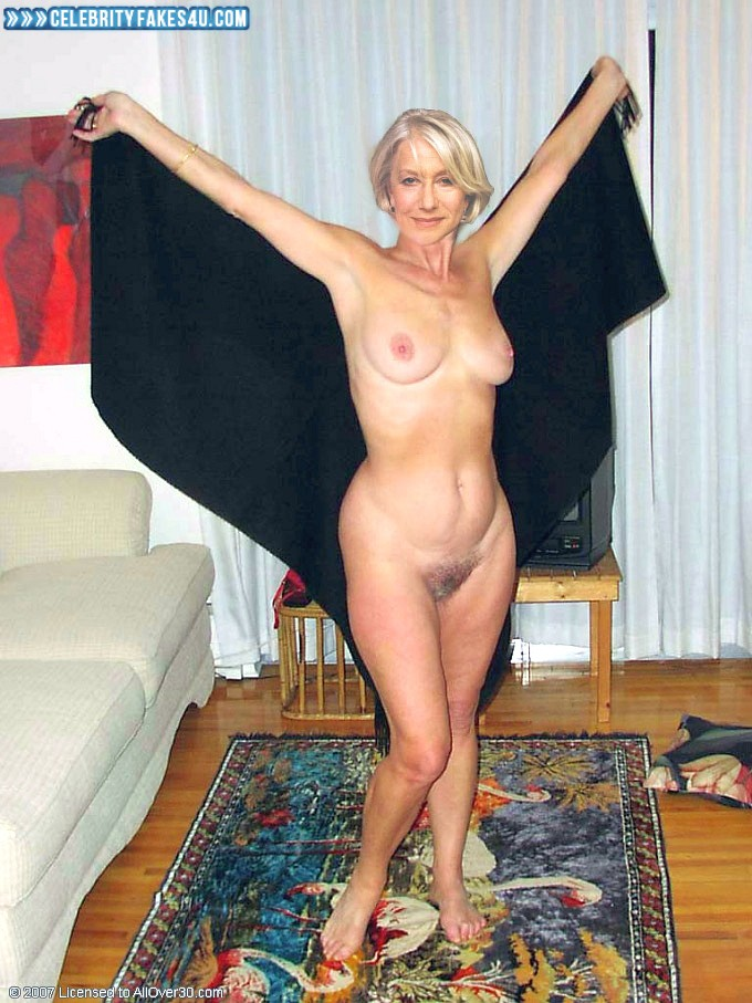 Helen Mirren Fake, Completely Naked Body / Fully Nude, Feet, Homemade, Sexy Flat Stomach, Sexy Legs, Tits, Porn