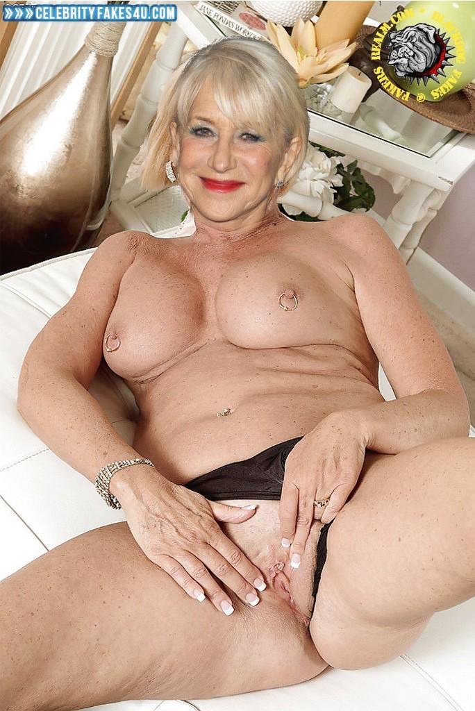 Helen Mirren Fake, Nipples Pierced, Panties Pulled Aside, Porn