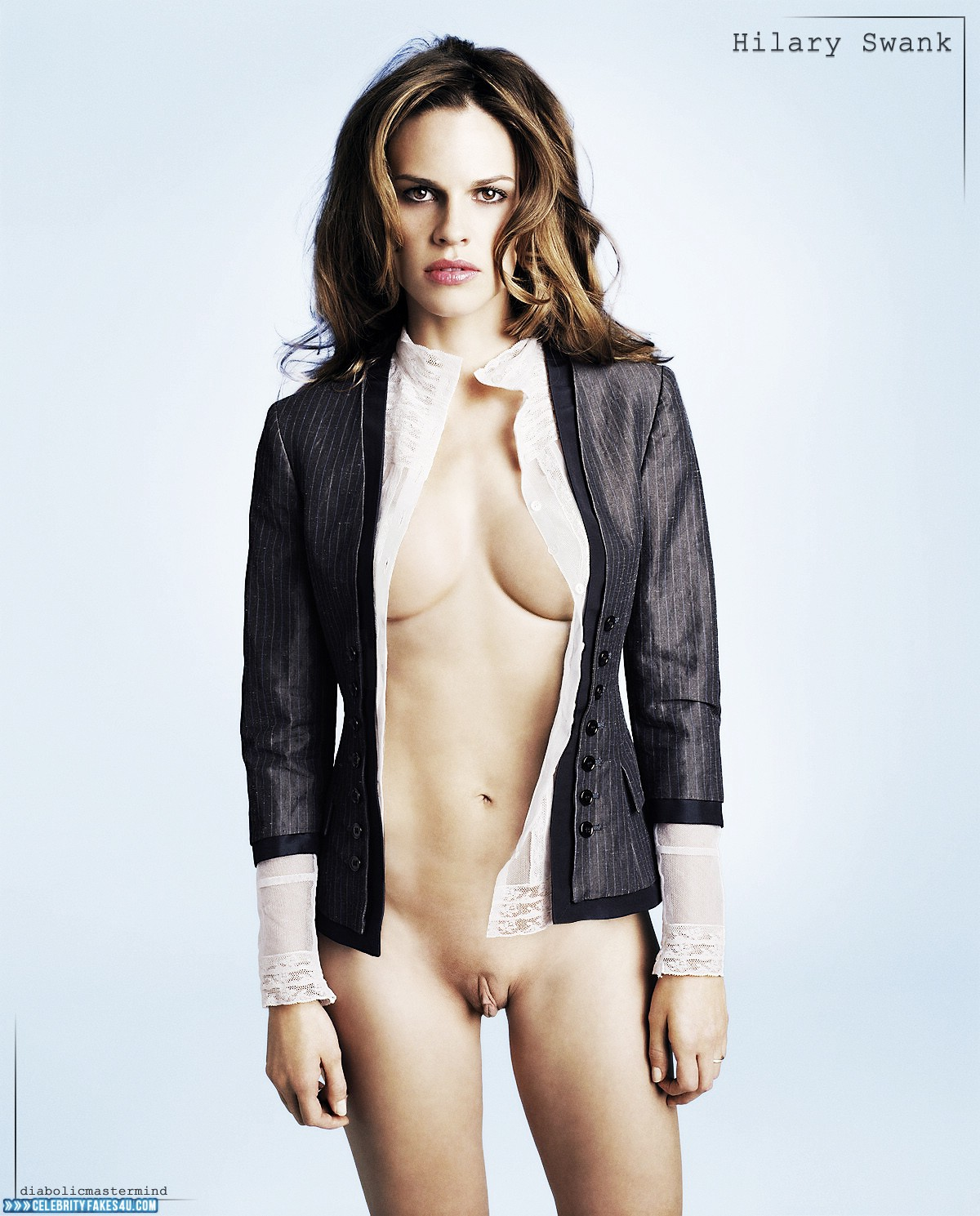 Fake nude images of hilary swank