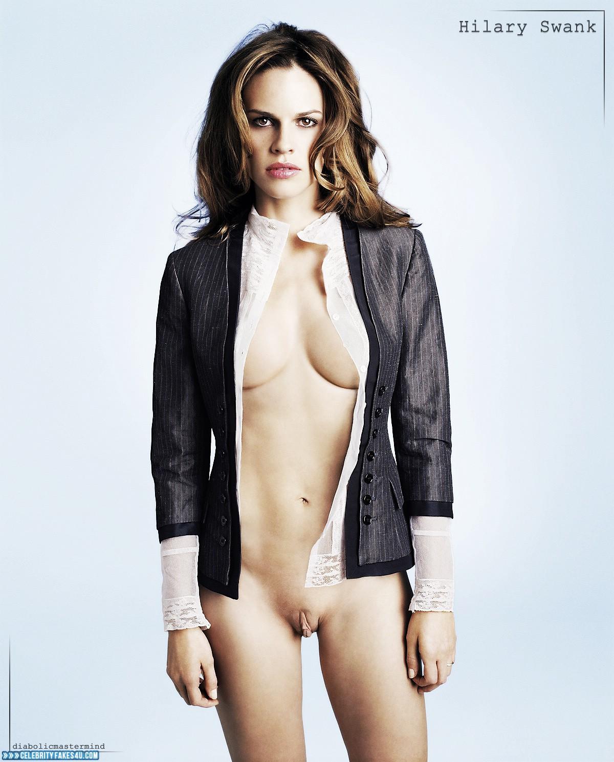 Fake nude images of hilary swank