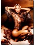 Holly Valance See Thru Lingerie Naked 001
