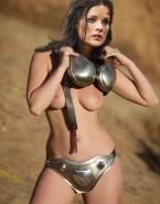 Jaimie Alexander Undressing Boobs 001