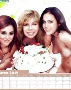 Ariana Grande - Jennette McCurdy - Elizabeth Gillies Naked Lesbian Fake-001