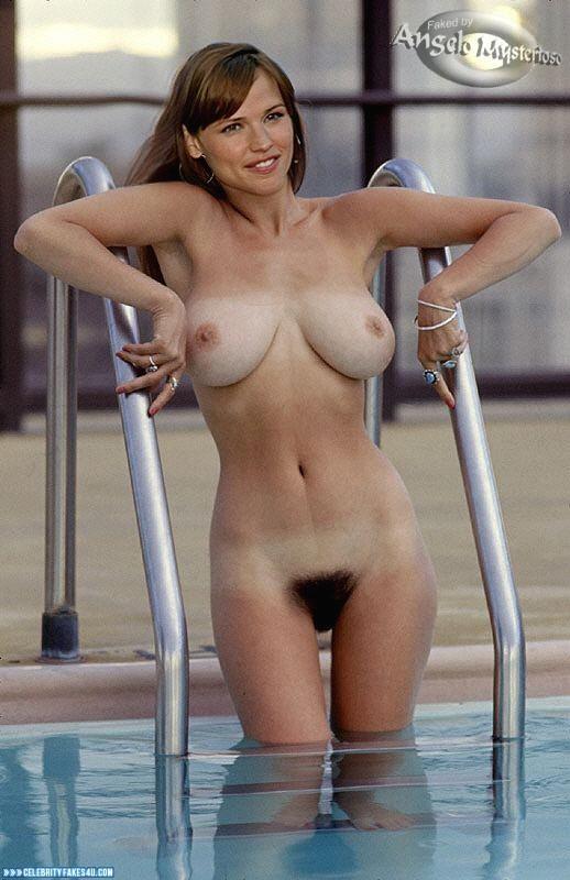 Jennifer Garner Fake, Big Tits, Hairy Pussy, Pool, Very Nice Tits, Porn