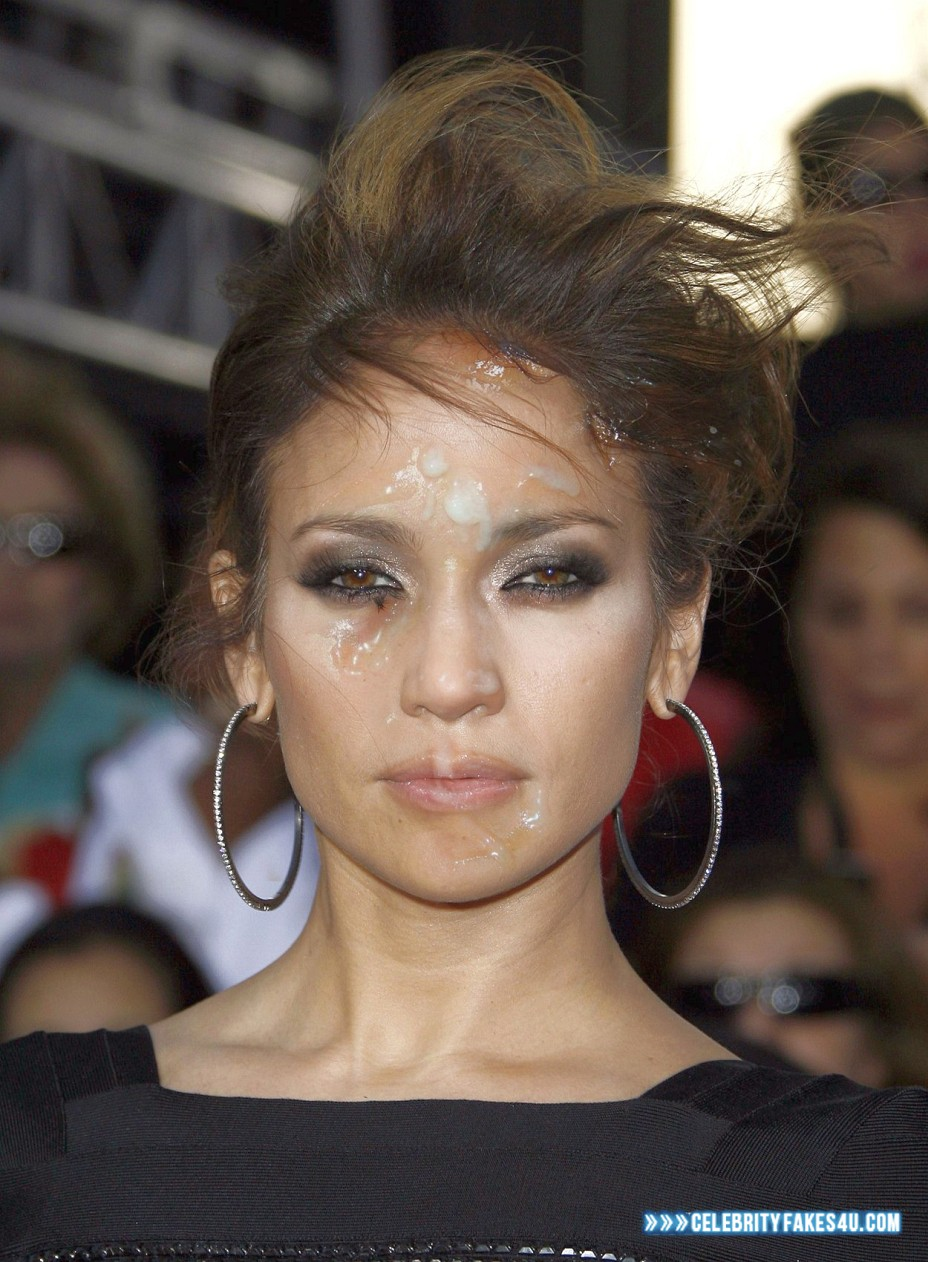 Jennifer Lopez Fake, Cum Facial, Public, Porn