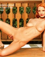 Jessica Chastain Rubs Vagina Nude Body Fake 001