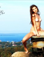 Jewel Staite Breasts Outdoor Porn Fake 001