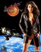 Jewel Staite Upskirt Pussy Movie Cover Fake 001