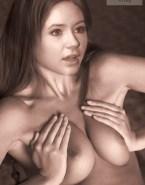 Karen Gillan Boobs Squeezed Porn Fake 001