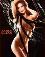 Karen Gillan Facial Naked Body Fake 001