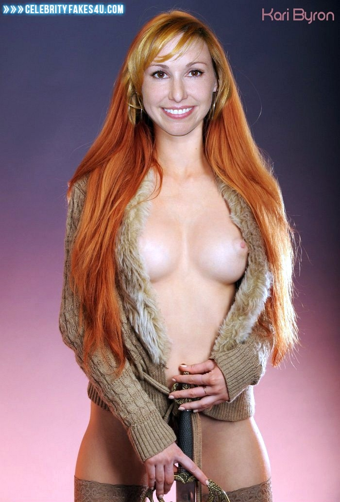 Right! Kari byron pussy penetrated and the