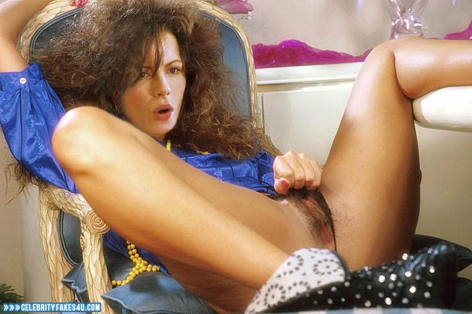 Kate Beckinsale Fake, Hairy Pussy, Legs Spread, Masturbating, Porn