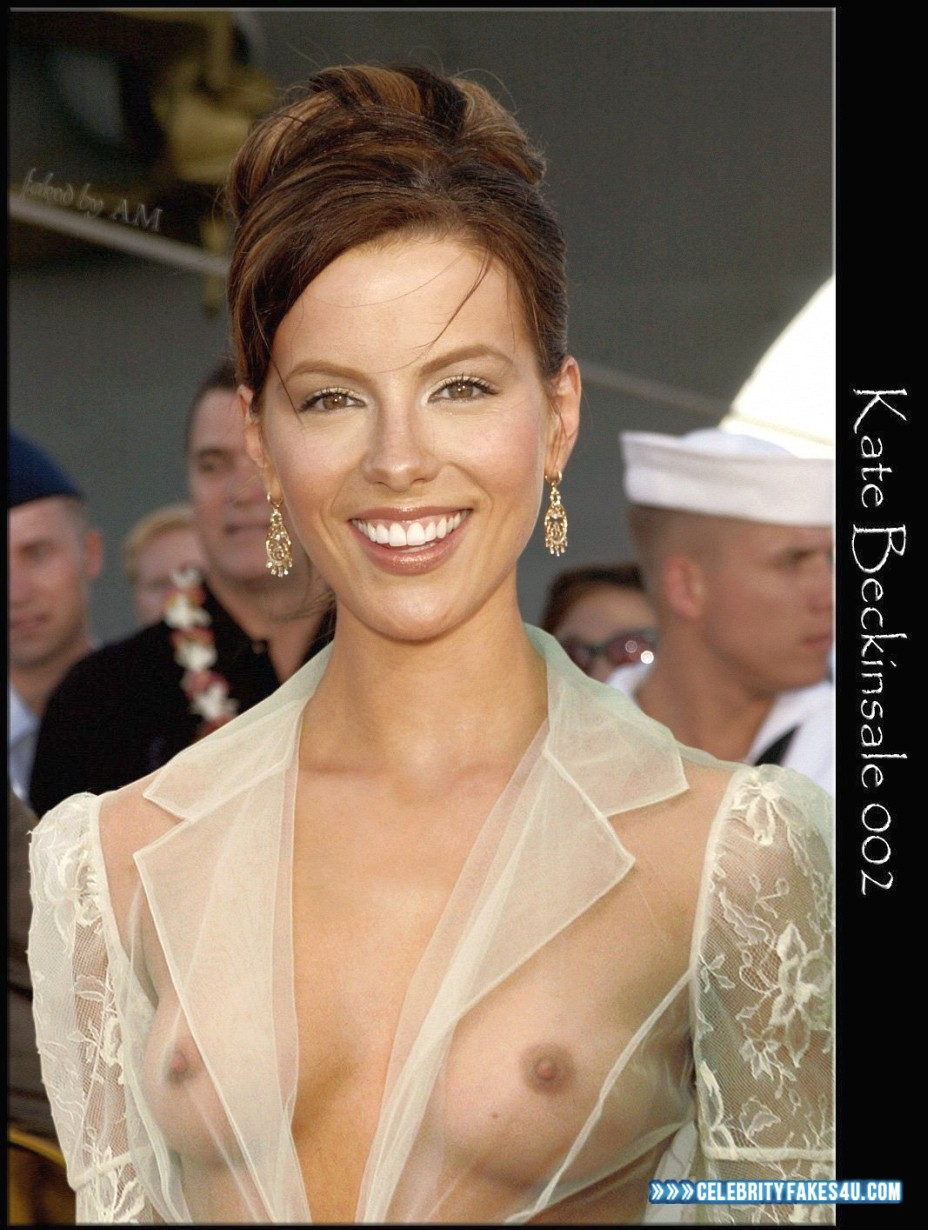Kate Beckinsale Fake, Public, See-Thru, Tits, Porn
