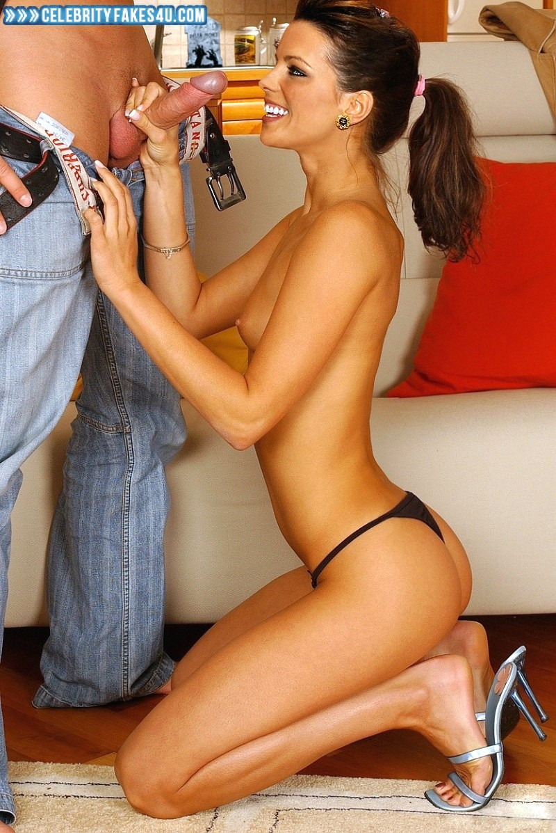 Kate Beckinsale Fake, Handjob, Thong, Porn