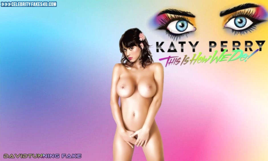 Katy Perry Fake, Big Tits, Completely Naked Body / Fully Nude, Nude, Tits, Porn
