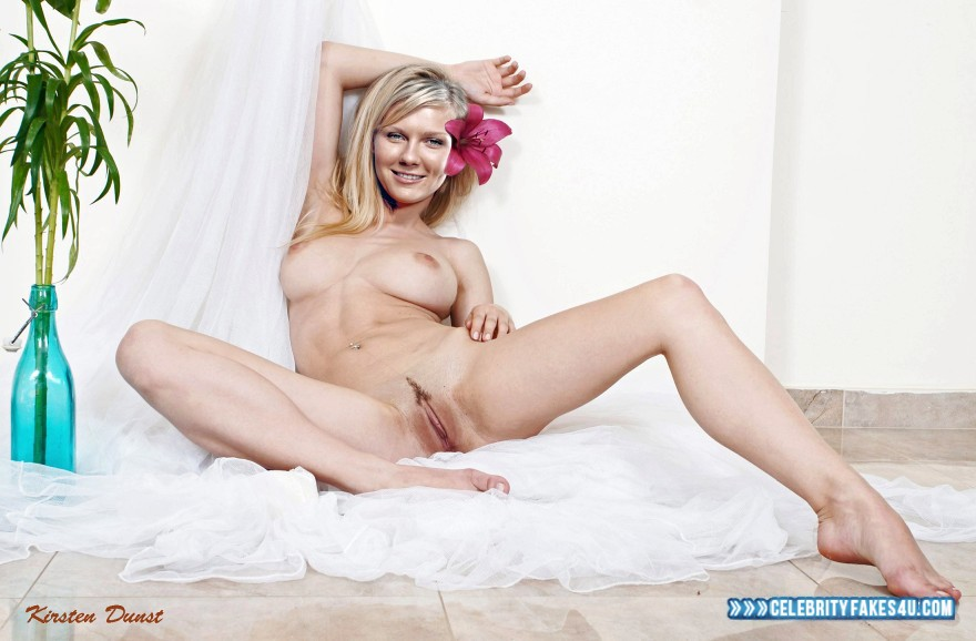 Kirsten Dunst Fake, Blonde, Horny, Legs Spread, Nude, Pussy, Tits