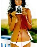 Kristin Kreuk Sideboob Squeezing Tits Nsfw 001