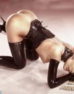 Kylie Minogue Latex Bent Over 001