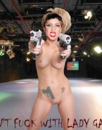 Lady Gaga Nipples Pierced Tattoo Naked 001