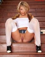Laura Vandervoort Stockings Vagina Legs Spread Fake 001