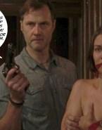 Lauren Cohan Bondage Boobs Squeezed Fake 001