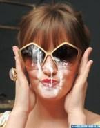 Leighton Meester Glasses Cumshot Facial Nude Fake 001