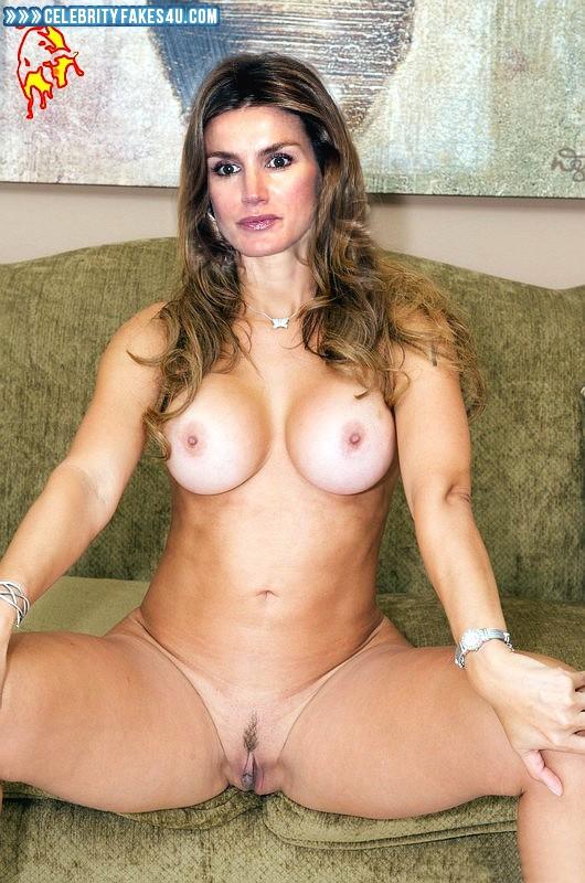 Letizia Ortiz Fake, Legs Spread, Nude, Tits, Porn