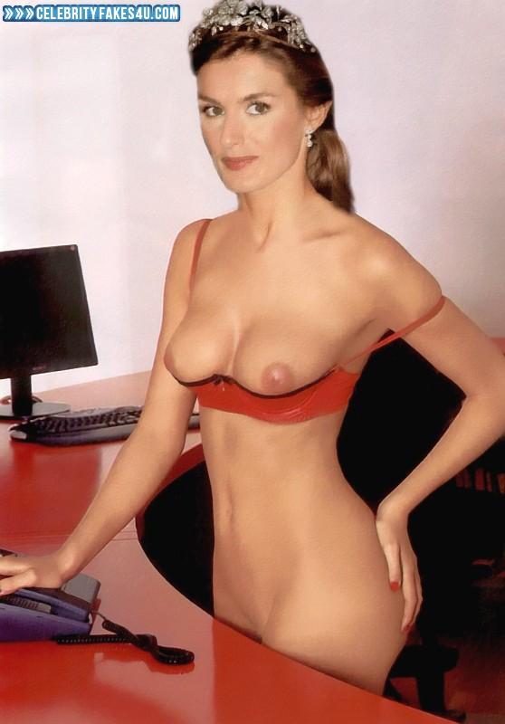 Letizia Ortiz Fake, Sexy Flat Stomach, Tits, Porn