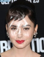 Lily Collins Big Cumshot Facial Nsfw Fake 001