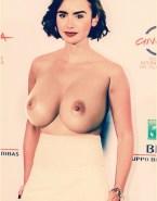 Lily Collins Huge Tits Public Porn Fake 001