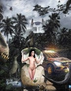 Lily Collins Jurassic Park Naked Body Fake 001