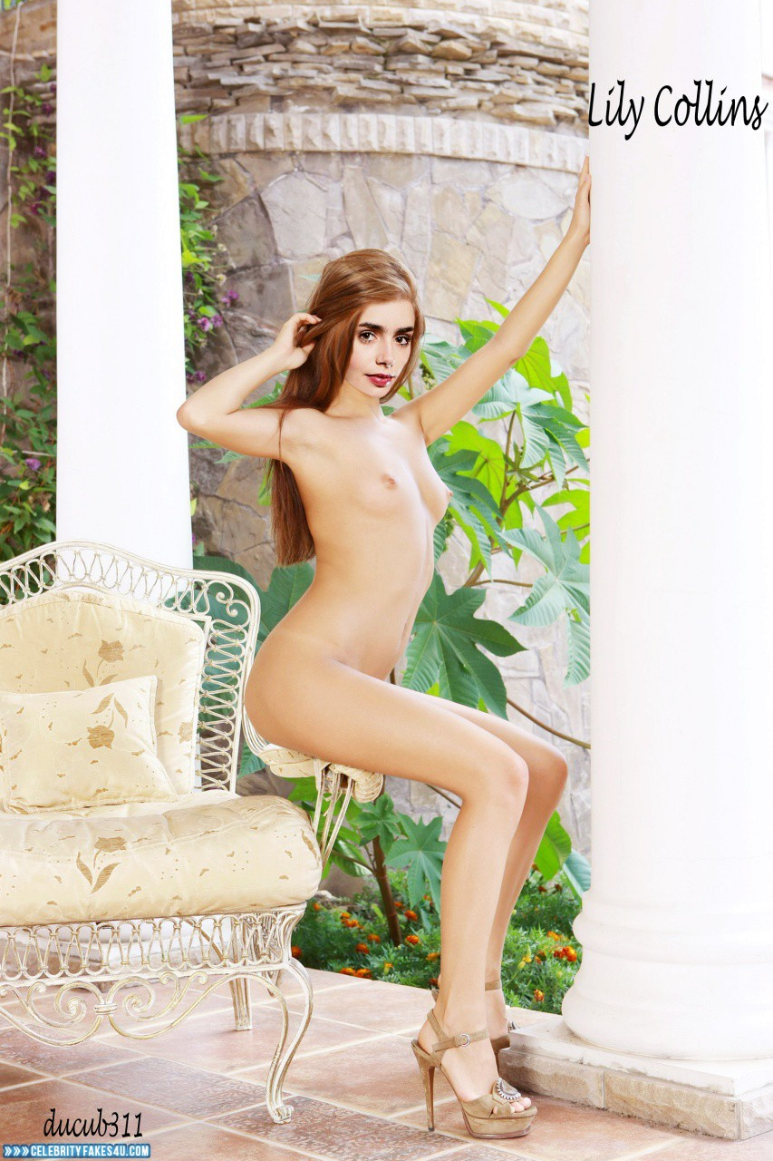 Lily collins full nude adventures black