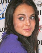 Lindsay Lohan Cumshot Facial Naked 001