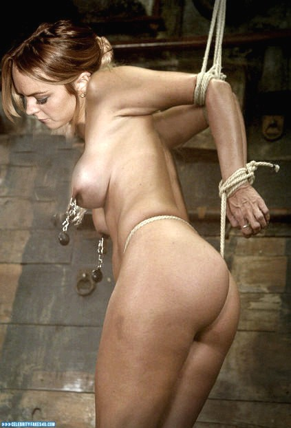 Lindsay Lohan Fake, Ass, Bondage, Nipple Torture, Porn