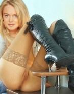 Lindsay Lohan Stockings Pussy Pierced Nude 001