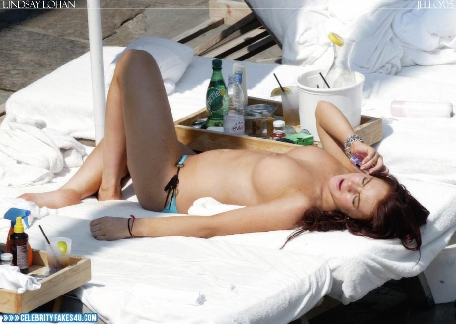 Lindsay Lohan Fake, Topless, Voyeur, Porn