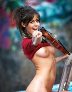 Lindsey Stirling Horny Titty Flash Naked Fake 001