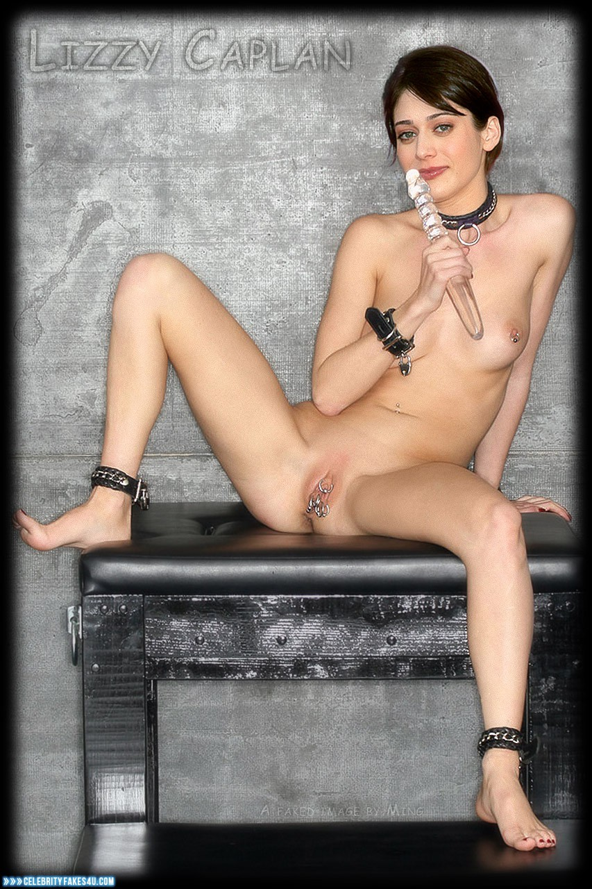 Lizzy Caplan Fake, BDSM, Nipples Pierced, Pierced Pussy, Pussy, Tits, Porn