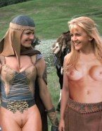 Lucy Lawless Without Underwear Lesbian Nsfw 001