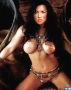 Lucy Lawless Without Underwear Topless Porn 001